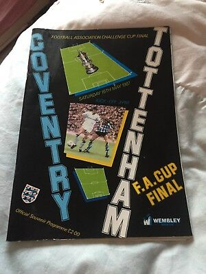 Football Programme FA CUP FINAL Coventry v Spurs 16/5/87