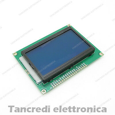 DISPLAY GRAFICO 128x64 LCD 12864 Arduino RETROILLUMINATO BLU QC12864B blue