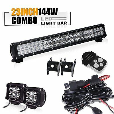 "23"" Led Light Bar +light pod Toyota tacoma chevy silverado titan pathfinder SUV"