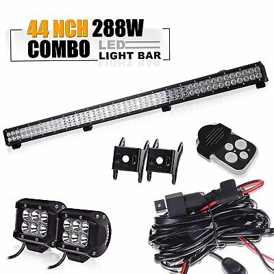 "44"" Led Work Light Bar+wiring Toyota tacoma chevy silverado titan pathfinder SUV"