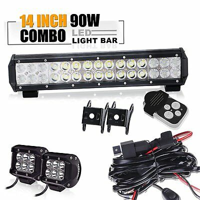 "14.5"" Led Light Bar+4"" CUBE Toyota tacoma chevy silverado titan pathfinder SUV"
