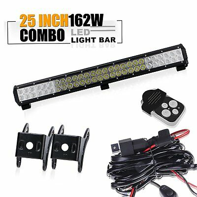 "25"" Led Work Light Bar+wiring kit  Van Camper Wagon Pickup ATV UTE SUV Boat 4x4"