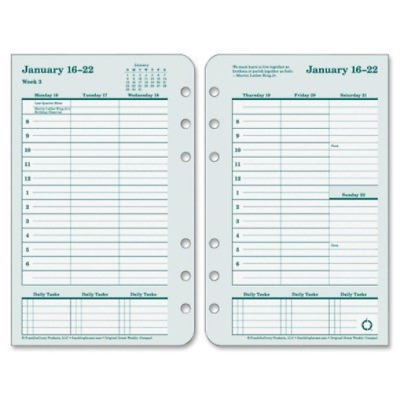 Franklin Covey 2017 Dated Weekly/Monthly Planner Refill, 4.25 x 6.75 - Inch
