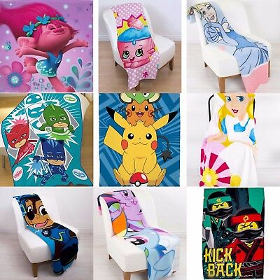 Extra Large Kids Super Soft Fleece Blanket - Boys Girls Children Bed Sofa Throw