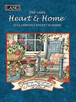 Lang Heart and Home 2016 Monthly Pocket Planner by Susan Winget, January 2016 to