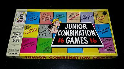 Vintage 1955 Milton Bradley JUNIOR COMBINATION 16 GAMES