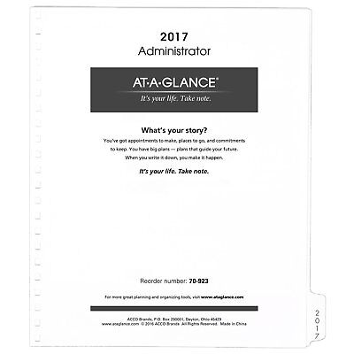 """AT-A-GLANCE Monthly Planner Refill 2017, 9 x 11"""", White 7092377"""