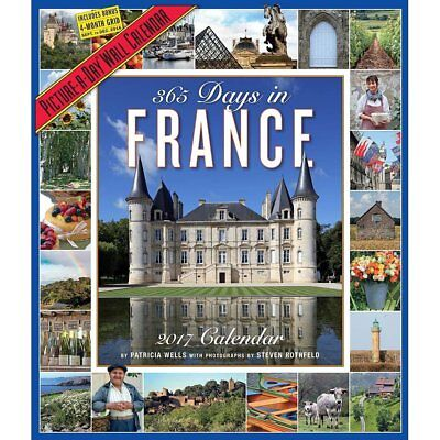 365 Days in France 2017 Picture-A-Day Wall Calendar
