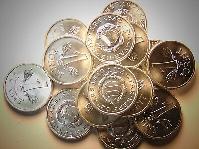 HUNGARIAN 1 FORINT, Aluminum (BU) 15 coins Available