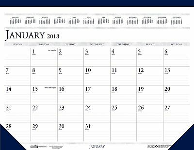 House of Doolittle 2018 Monthly Desk Pad Calendar, Classic, 18.5 x 13 Inches, -