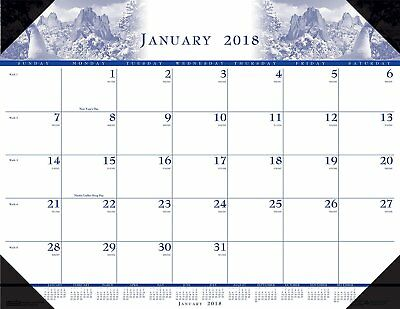 House of Doolittle 2018 Monthly Desk Pad Calendar, Illustrated, 22 x 17 Inches,