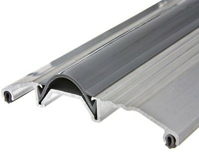 Frost King Door Threshold Double-Entry 3-3/4 in. x 72 in. Wide Aluminum Silver