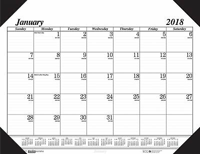 House of Doolittle 2018 Monthly Desk Pad Calendar, Economy, 18.5 x 13 Inches, -
