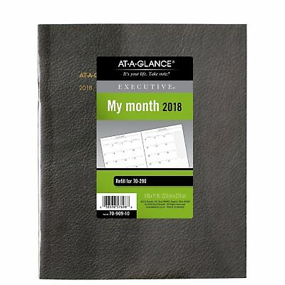 AT-A-GLANCE Monthly Planner Refill for Executive Monthly Padfolio, January 2018