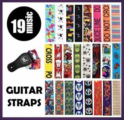 Various Colours Designs Acoustic Electric Bass GUITAR STRAP Xmas Gift BARGAIN UK