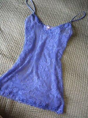 VS Victoria's Secret  SMALL Nighty/teddy/Chemise/Intimate Stretch Lace PERIWINKL