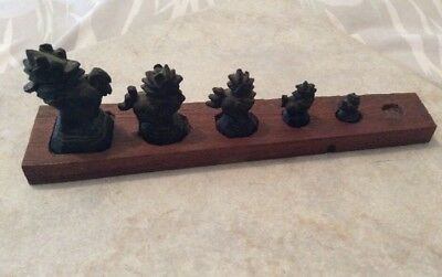 Antique Cast Iron/Bronze/ Brass Opium 6 Weight Set Only 5 Weights Available