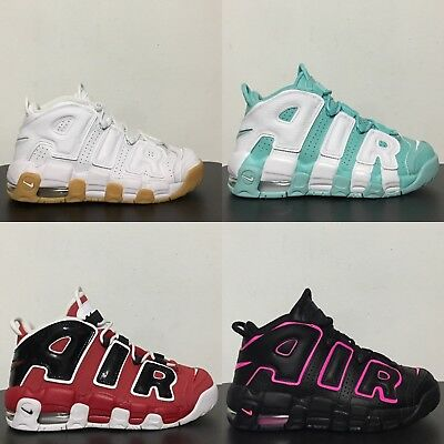 Nike Air More Uptempo GS Scotty Pippen Black Pink Red White Island Green 415082