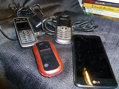 4 non working cell phones..to refurbish or for parts