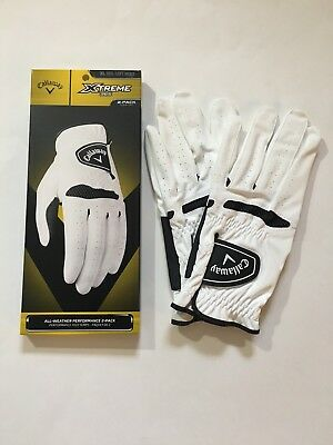 callaway xtreme 365 all weather golf glove 2 pack select size
