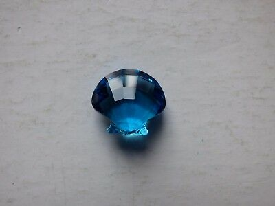 Swarovski * Silver Crystal Scallop ornament * Blue * Pre-owned * VVGC * Ref B *
