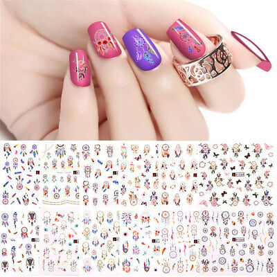 ❤️lot Exceptionnel(400) Stickers Dream Catcher Bijoux Ongles Water Decals Nail A