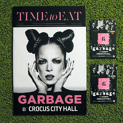 Shirley Manson / Garbage 2015 Russian magazine Time To Eat promo tour postcards