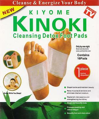 Kinoki Herbal Detox Foot Pads 10 Detoxification Cleansing Patchs with retail box
