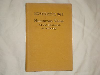 Little Blue Book #961 Humorous 17th/18th Century Verse, print circa 1926