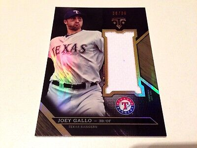 Joey Gallo 2016 Topps Triple Threads Wood Refractor Game Used Jersey #/36 Texas