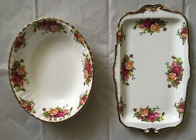 Royal Albert Old Country Roses Serving Bowl & Serving Dish, Excellent