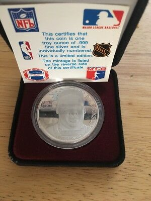 1990 BO JACKSON  SiLvEr PrOoF Coin! LIMITED EDITION Box Set~