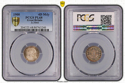Great Britain, 1900 Victoria Fourpence, 4 Pence, Groat, Maundy. PCGS PL - 68.
