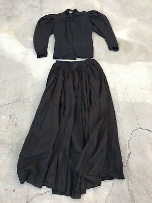 Antique Victorian Witch Top And Skirt Dress Blouse Old
