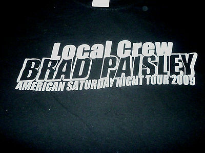 Brad Paisley Crew 2009 Tour Shirt ( Used Size XL ) Very Nice Condition!!!