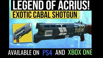 DESTINY 2 LEGEND OF ACRIUS - End the Arms Dealer Strike completion PS4/Xbox  One