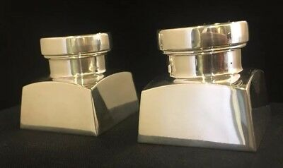Black Starr Gorham Sterling Silver Pair Salt & Pepper Shakers Geo. Washington