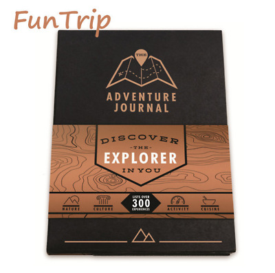 Adventure Journal Travellers Bucket List Scratch Map Travel Tip Book Deluxe Gift