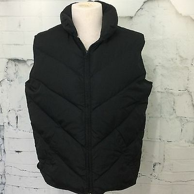 EDDIE BAUER Goose Down Black Quilted Puffer Vest Women's Large