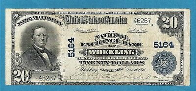 1902 $20 Charter 5164 National Exchange Bank of Wheeling West Virginia