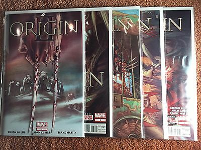 WOLVERINE ORIGIN II # 1 2 3 4 5 • Wolverine Origins 2 Set • Marvel Comics