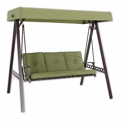 High Quality  3 seat Cushioned Garden Swing (Green)  MELBOURNE PICK UP ONLY