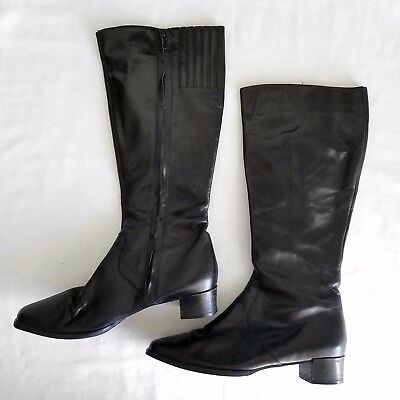 d248c5e4207 NEW TOPSHOP NORDSTROM Black Leather Tall Riding Boots Womens 37, 6.5 ...