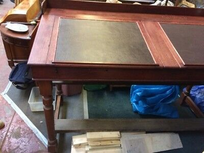 Writing/Architects style Leather Top Desk