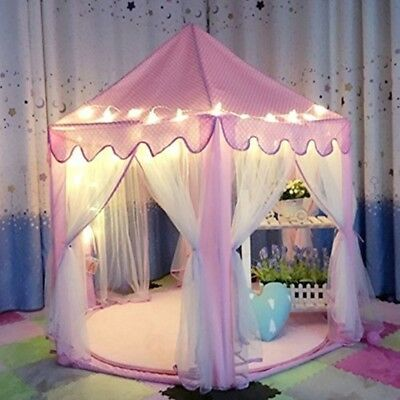 NEW Kids Indoor Princess Castle Tent With 23 Feet Led Star Lights By IsPerfect
