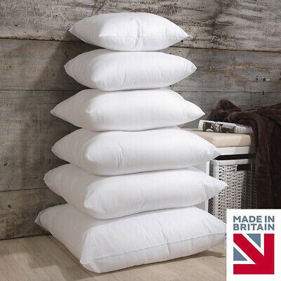 New Luxury Soft Hollowfibre Extra Filled Scatter Cushion Inners Pads All Sizes