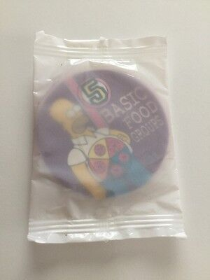 The Simpsons Pickers Tazos RARE Letter E Sealed 5 Food Groups Limited Edition