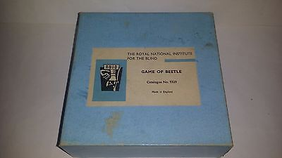 Vintage RNIB Wooden Game of Beetle with Braille Instructions Boxed Complete
