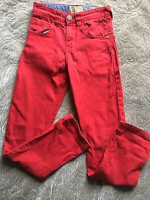 NEXT Red Boys Adjustable Elastic Waist Jeans Trousers 9 Years Height 134cm