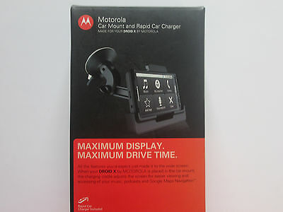 Motorola Car Mount and Rapid Car Charger for Droid X